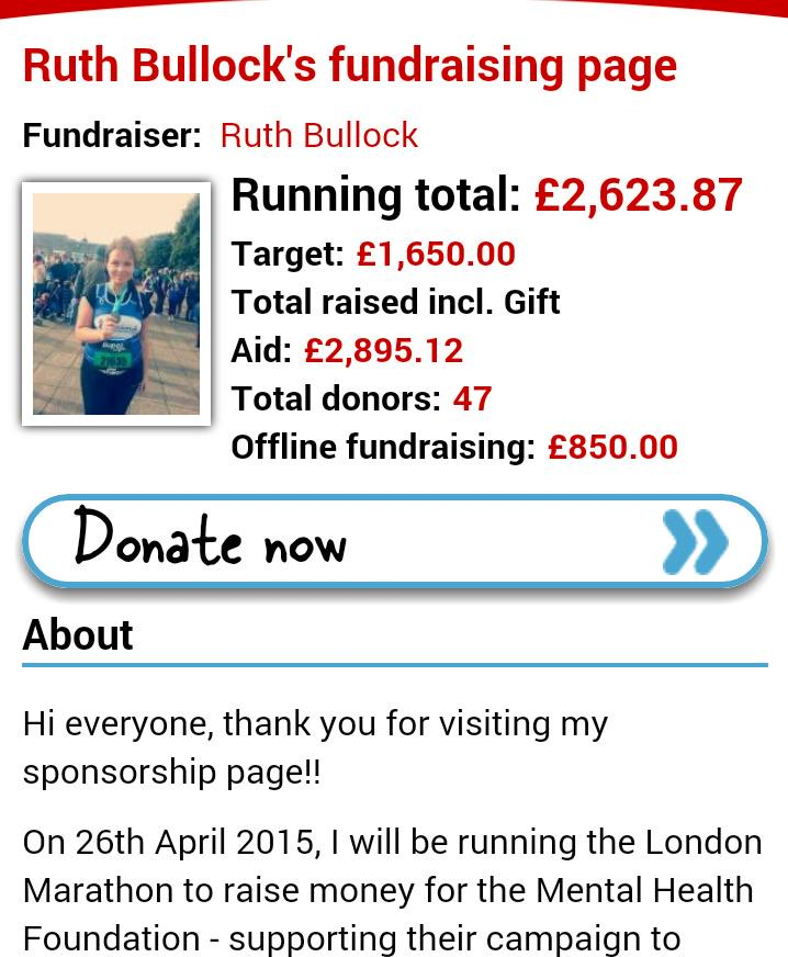 RT @Rooticles: @RealMattLucas I'm doing the London Marathon on Sunday for #mentalhealth, pls can u RT to raise awareness? Thank u x http://…