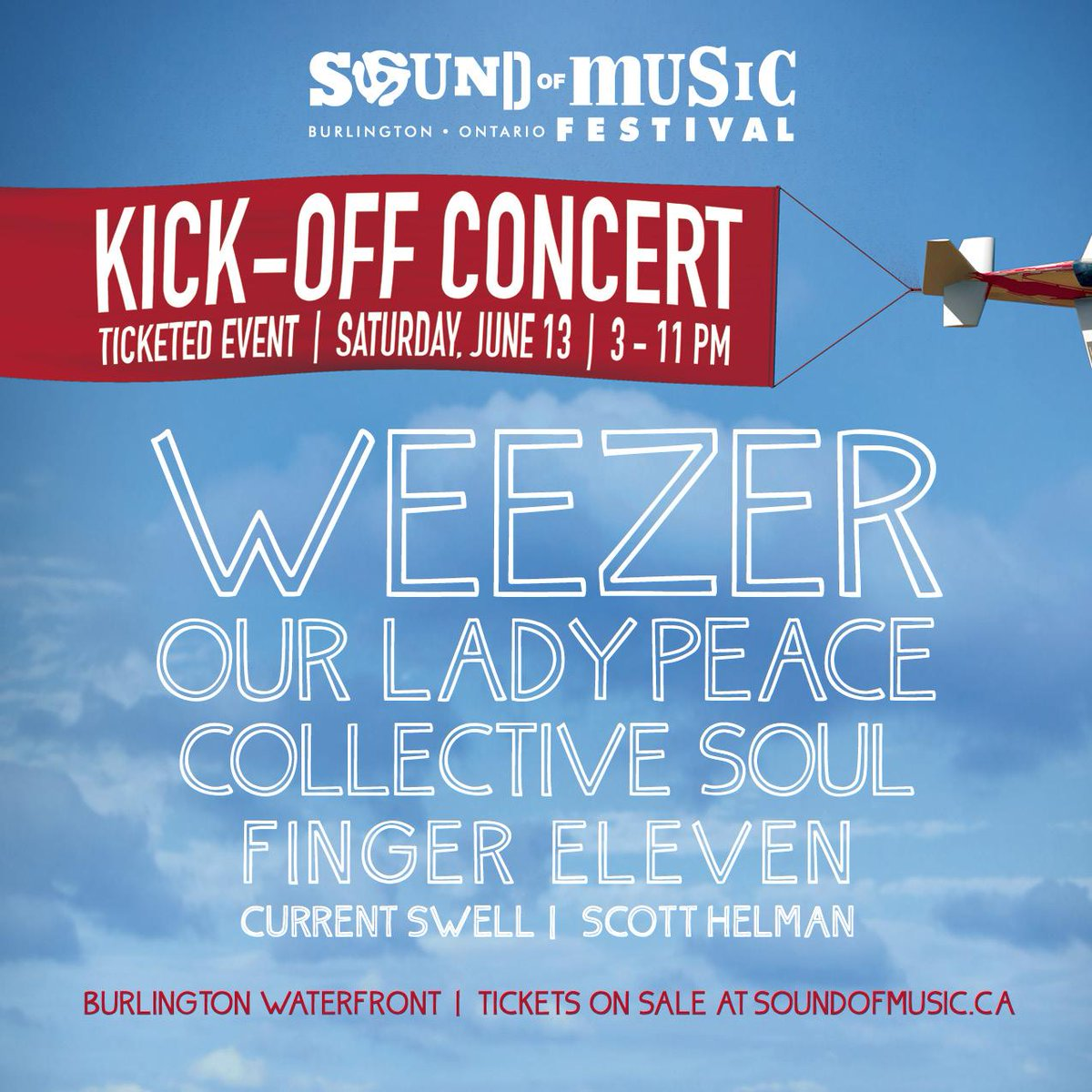 .@CollectiveSoul @ScottHelman Join @weezer @OurLadyPeace RT for a chance to win tix. Tix @ http://t.co/1AZikEObfd http://t.co/G5D6luRGqL