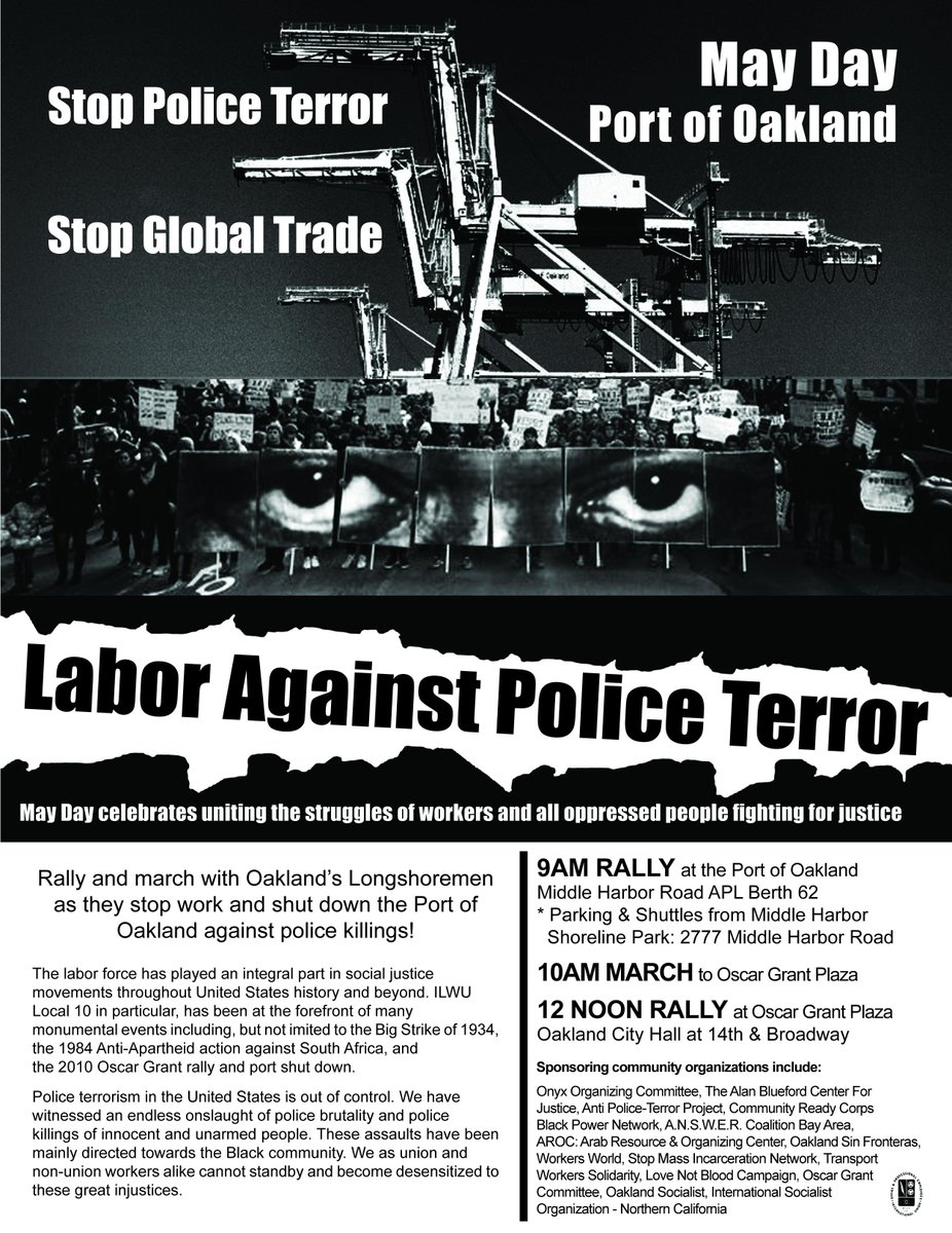 Port Shutdown March: Labor Against Police Terror. @ Port of Oakland,  APL gate near berth 62  | Oakland | California | United States