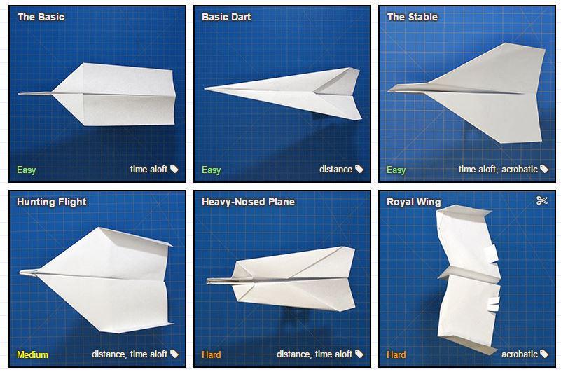Foldnfly  guida alla costruzione di aerei di carta 87ea8171197f