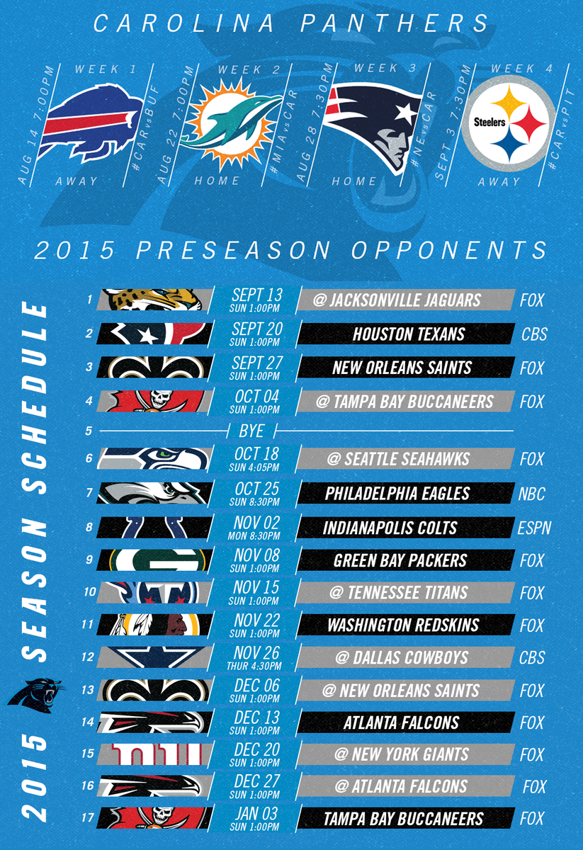 "carolina panthers on twitter: ""icymi: the #panthers 2015 schedule"