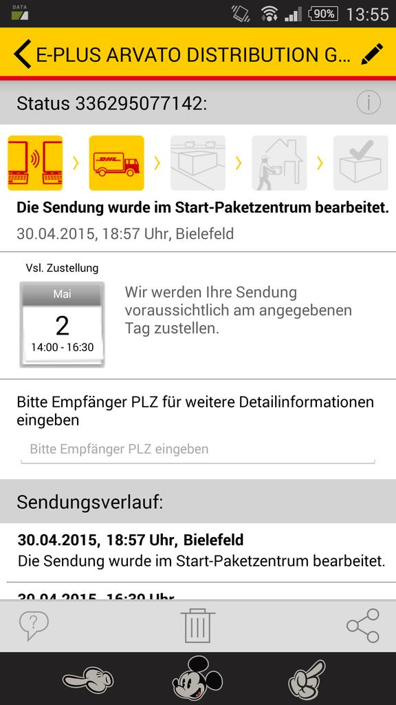 Dhl Paket On Twitter At Therealkings86 Jedes Paket Hat Einen