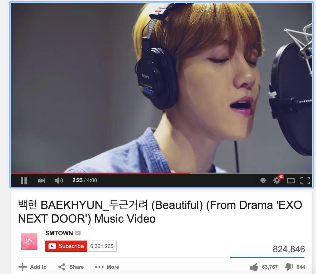 "[♡]please help and watch ""MV OST"" to 920,506, before Baekhyun birthday!!!!! #BAEKHYUNOST920506 http://t.co/X6eGThHQDh http://t.co/wgA68OY5t4"