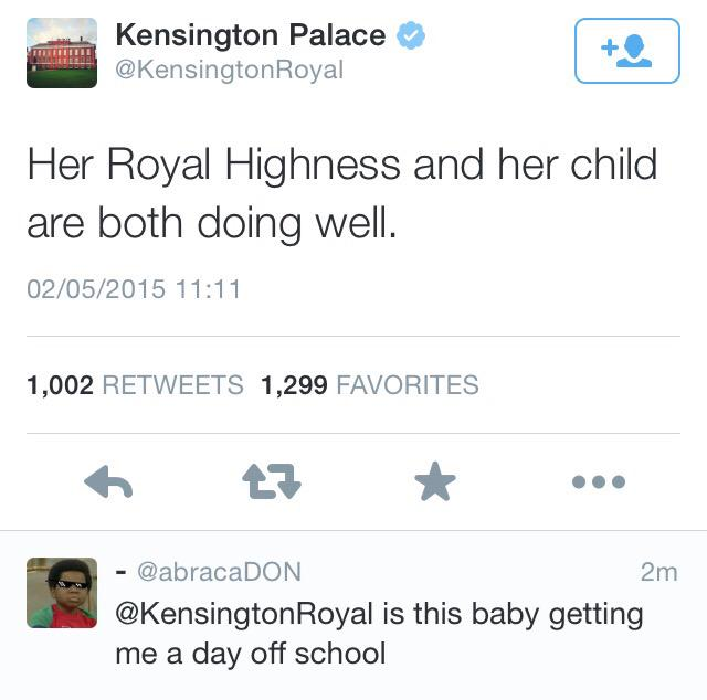 Possibly not the reaction they were hoping for #royalbaby http://t.co/AdRKlT1p2o