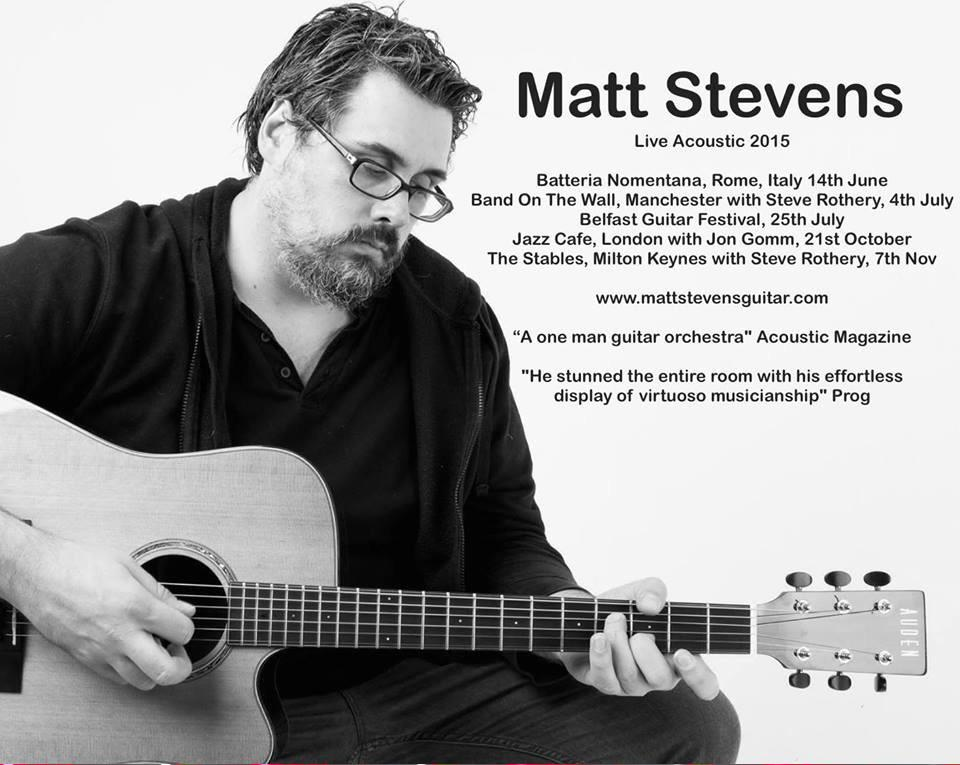 Full list of 2015 solo gigs - please RT and tell your friends w/ Jon Gomm, Steven Rothery and more http://t.co/IXnJgonouw