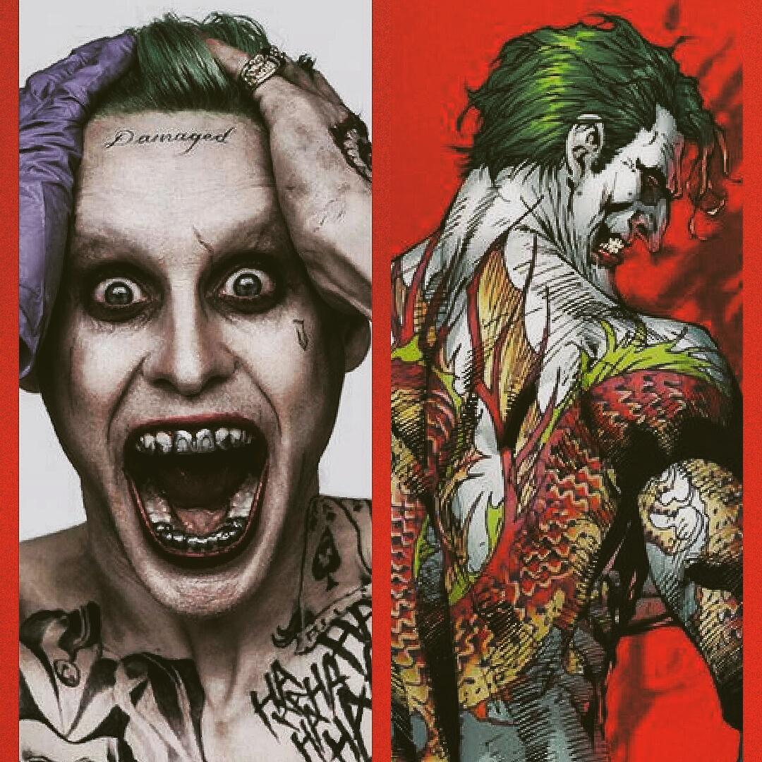 RT @comicbookvibe: Soon as I saw the photo @JaredLeto as the Joker it reminded me @FrankMillerInk and @JimLee Joker  Batman and Robin http:…