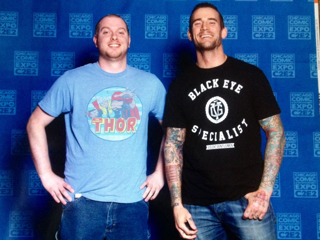 I was genuinely starstruck in the time it took for this to happen. Thanks, @CMPunk for being the shit! http://t.co/HL3HE3487T