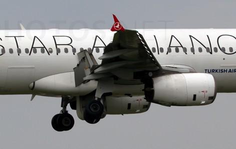 Schade aan motor, vleugel, flaps en landing gear A320 #Turkish vóór landing goed zichtbaar http://t.co/F5U7VNoRIn http://t.co/DUmqJH5Hgo