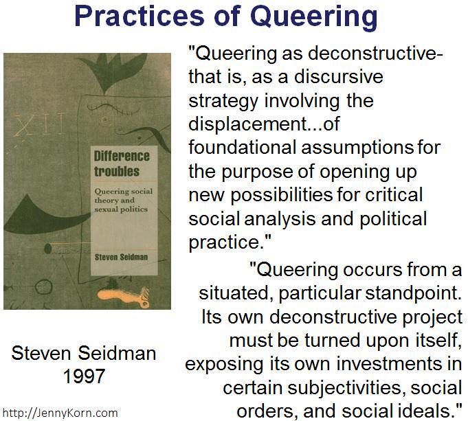 #Queering displaces foundational assumptions to open new critical soc analysis & poli practice #QueerData #AAG2015 http://t.co/RyyTN68oxX