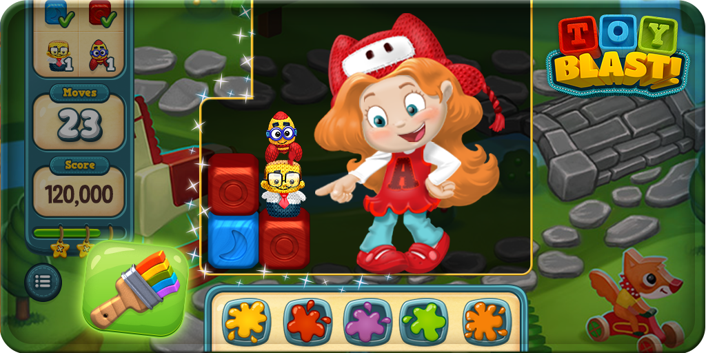 Toy Blast Update : Toy blast on twitter quot use paintbrush booster to change