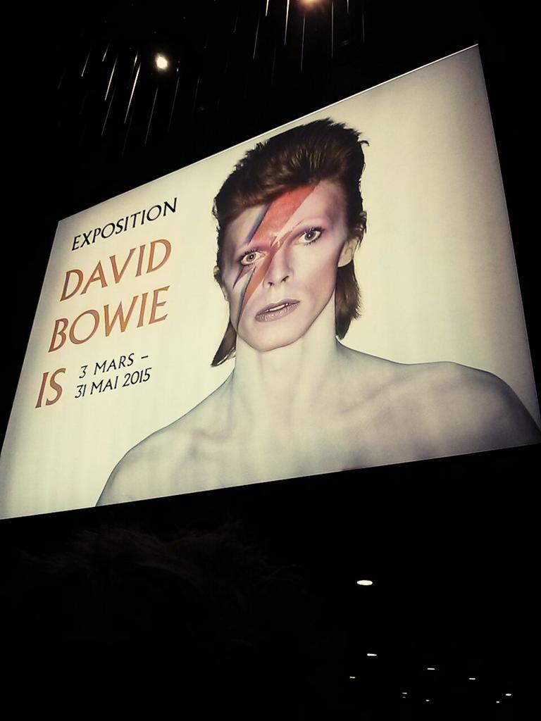 Expo David #Bowie Is @philharmonie, très belle scénographie ! <3 prem's @God_Schizo