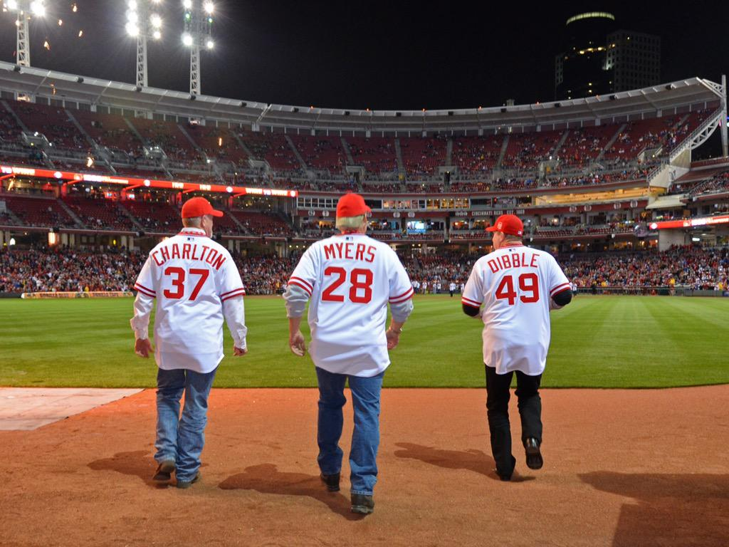 "Very cool moment from last night as ""The Nasty Boys"" come out of the bullpen #PartyLikeIts1990 http://t.co/35X8s87qeX"