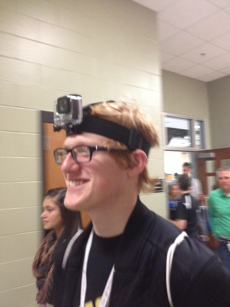 iCat Josh wearing our @GoPro at #HSDLead @SVSchools http://t.co/N501kdx74R