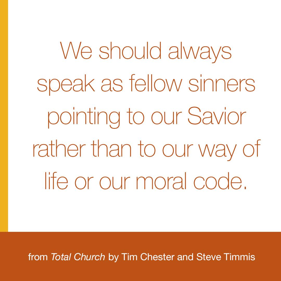 The gospel doesn't give us moral superiority, it gives us grace, forgiveness, love, and a new heart. http://t.co/1z4lfLGcDG
