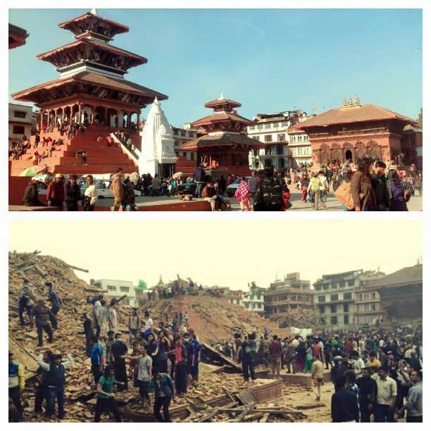 तस्वीरहरूः भूकम्पअघि र पछि…