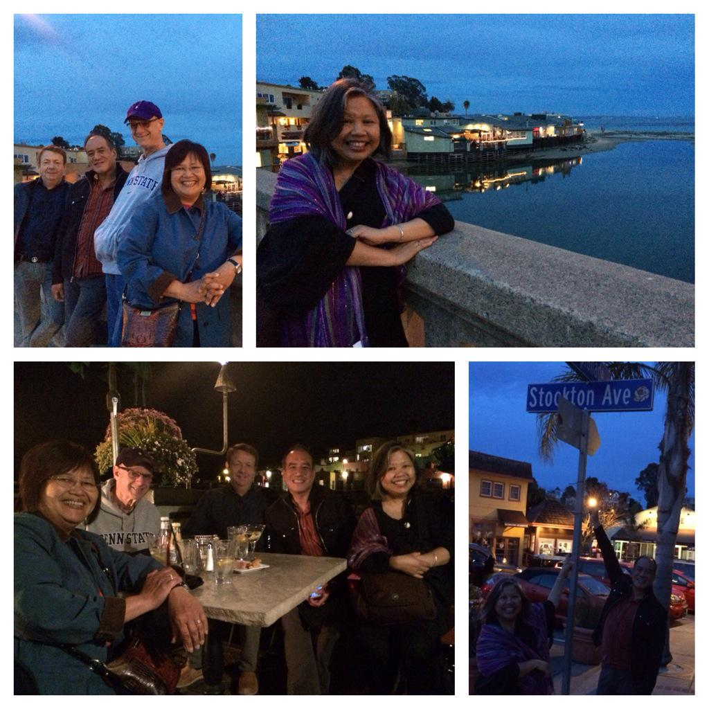 Great beginning #ucsc50: Dinner by the sea at #ParadiseGrill @CapitolaVillge. Thanks @antman251966 @EvelynCasuga http://t.co/31lLGRCvz5