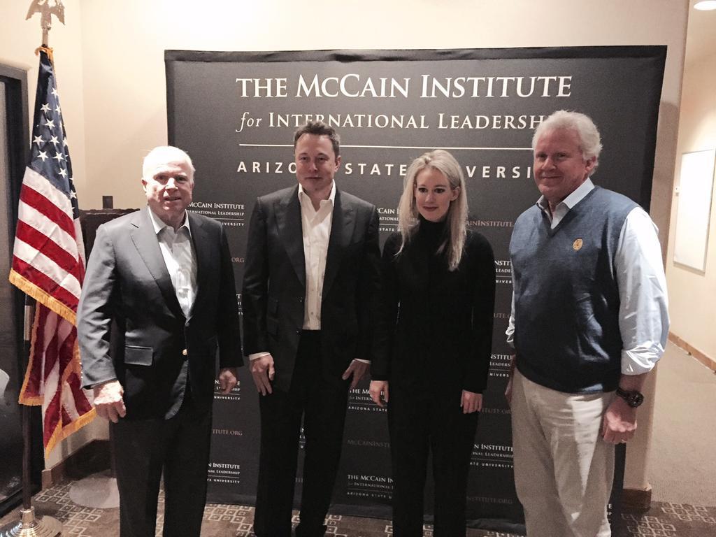 Proud to have @ElonMusk, Elizabeth Holmes & @JeffImmelt in #Arizona today! #TheSedonaForum