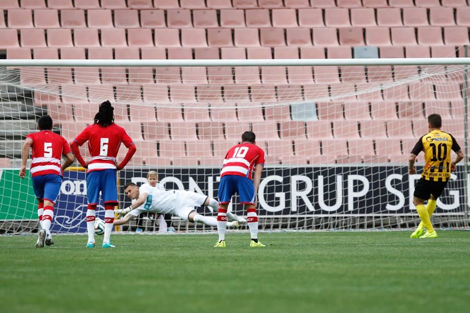 Dimitrievski dives to stop a penalty