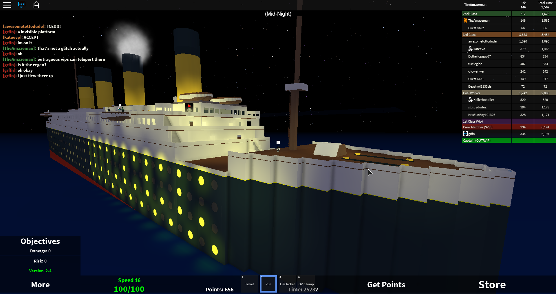 Amaze On Twitter Top Bar Works Pretty Well For Roblox Titanic