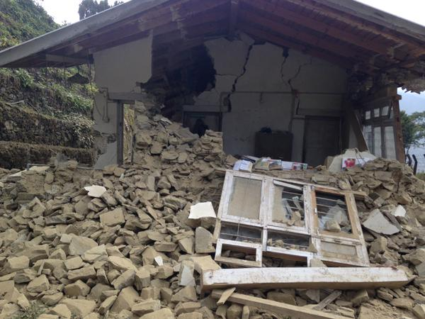 RT @BritishRedCross: Images from @TirthaRajJoshi1 of some of the damage caused by today's earthquake in Rasuwa district, #Nepal http://t.co…