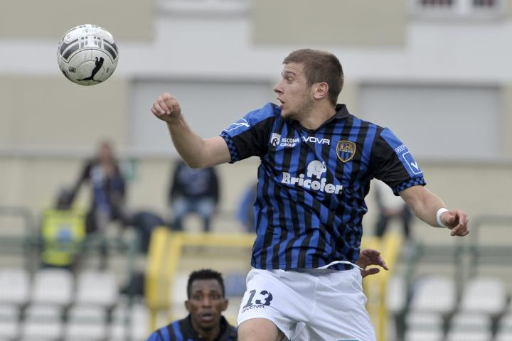 Ristovski leaps during the game