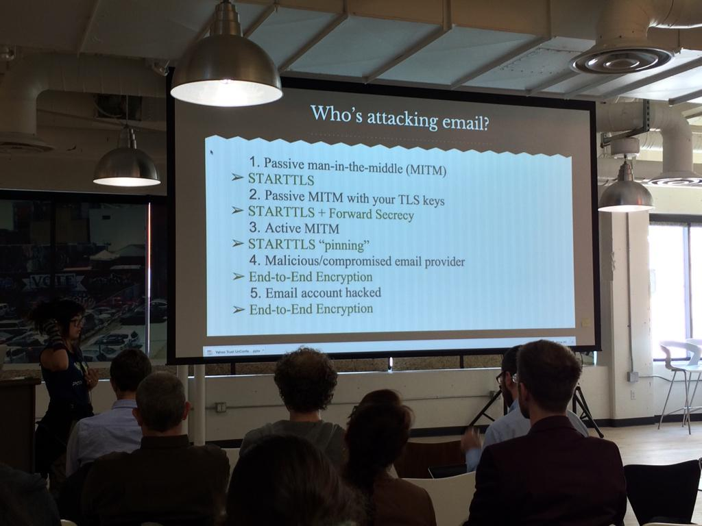 This slide sums up my worries with encryption and email today. Thanks, @bcrypt! #yahootrust http://t.co/7Hwsh0SDzA