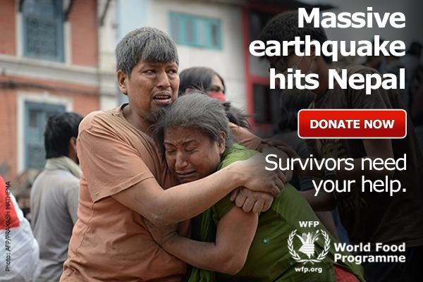 WFP launches an appeal for funds to help survivors of the #NepalEarthquake. To donate: http://t.co/IztwQhFCBk http://t.co/bNt3NBpjc1