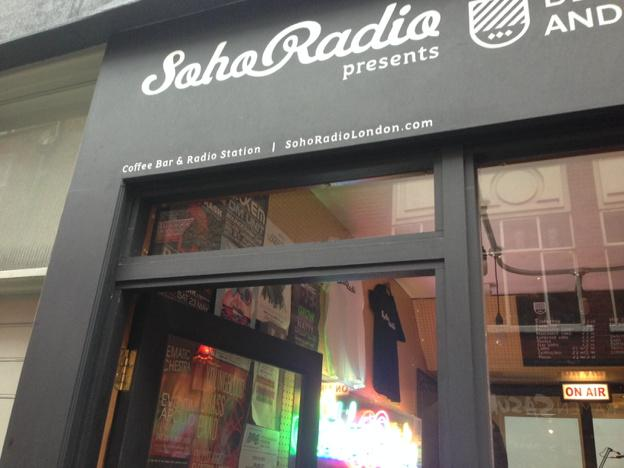 Coffee bar and radio station - only in Soho!
