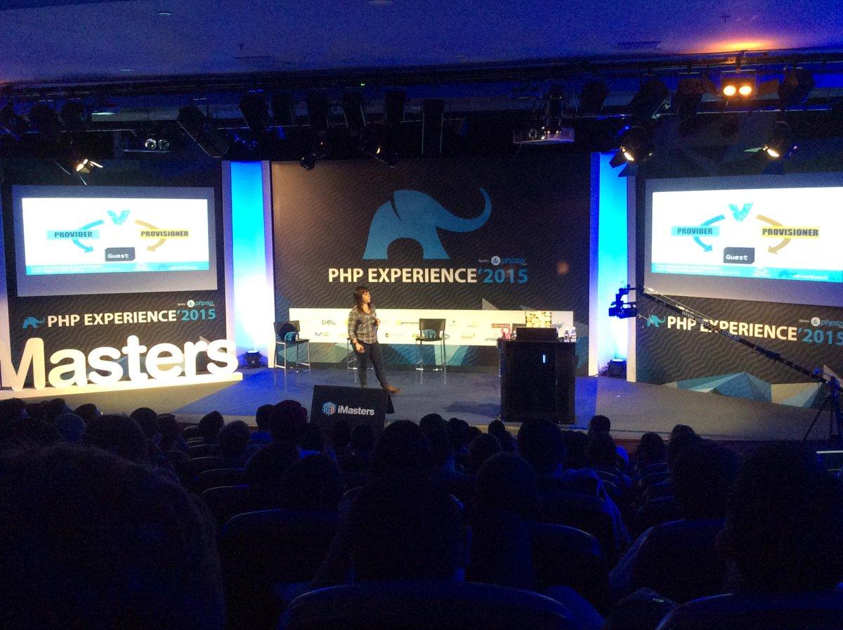 .@erikaheidi rocking the stage at #phpexperience :) http://t.co/2oZfjBOMSx