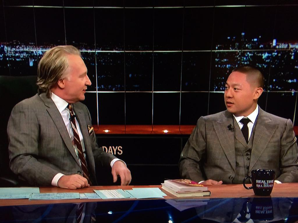 such a spectacular confluence! i hope @billmaher returns the appearance & goes smoking and eating with @MrEddieHuang http://t.co/6LVLjvbIAc