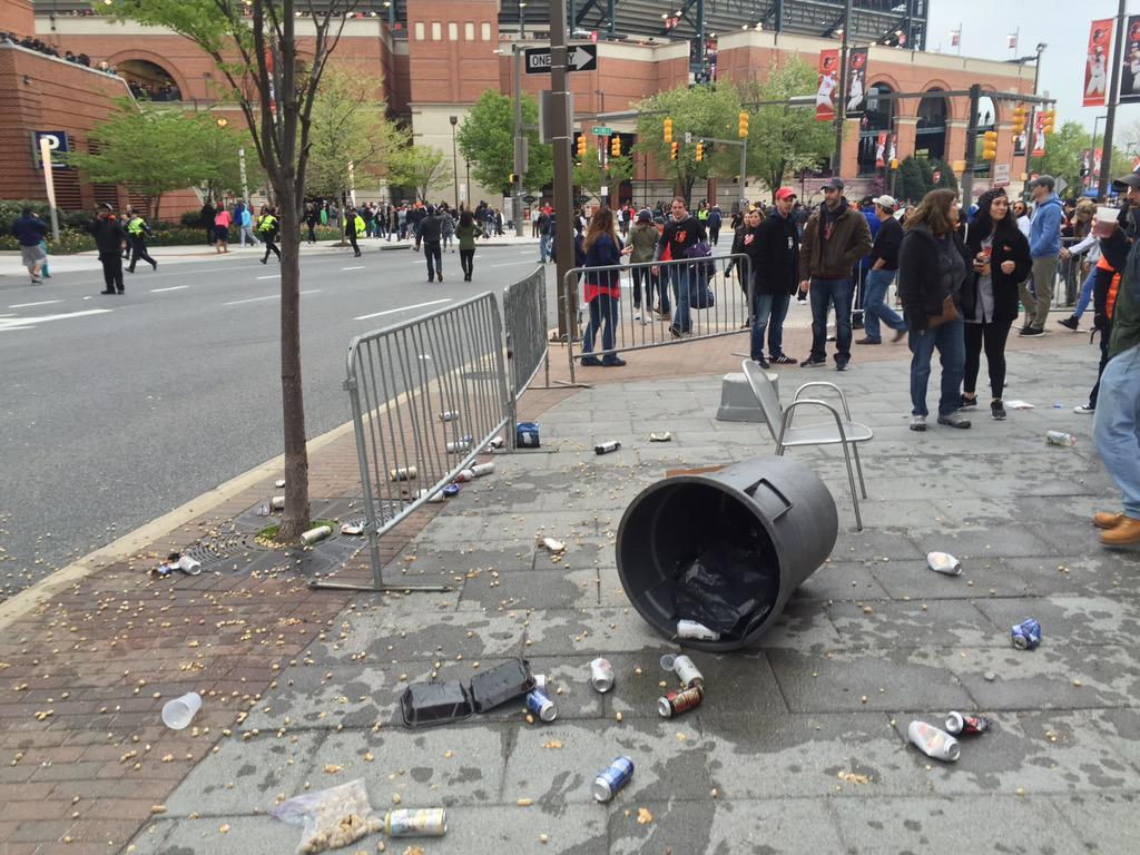Thugs beat up, toss trash at whites during Camden Yards protests VIDEO