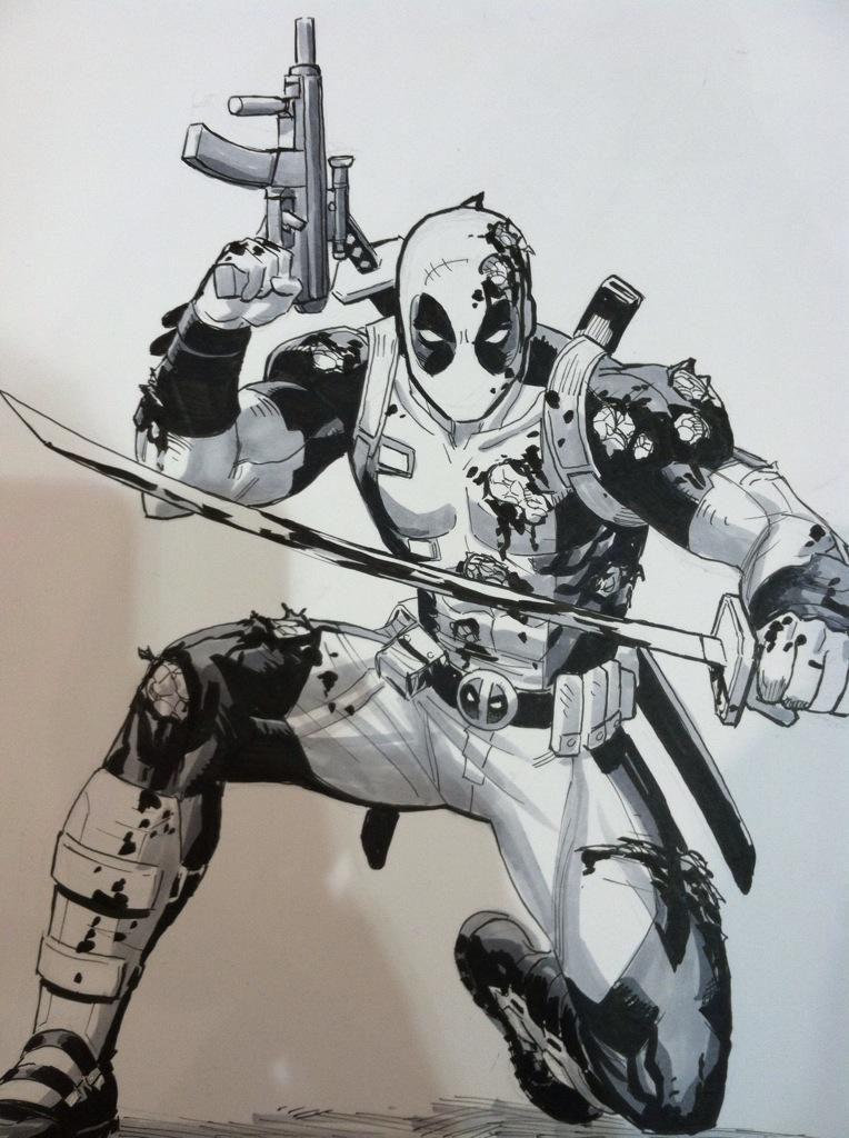 Another Deadpool piece from C2E2 http://t.co/fTjRBkvHnE
