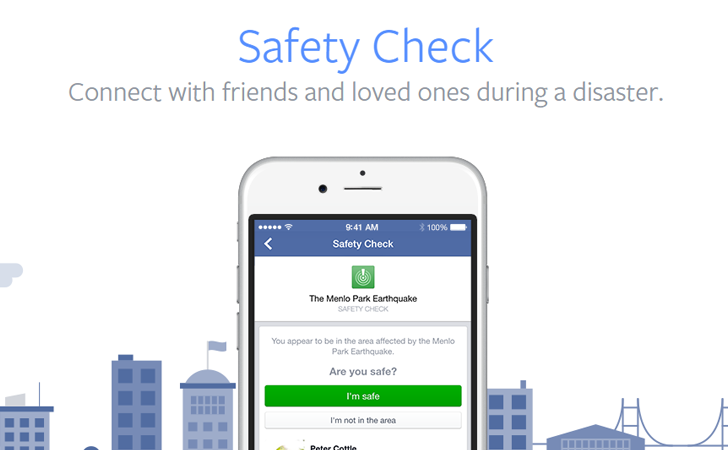 Safety Check di Facebook per il Terremoto