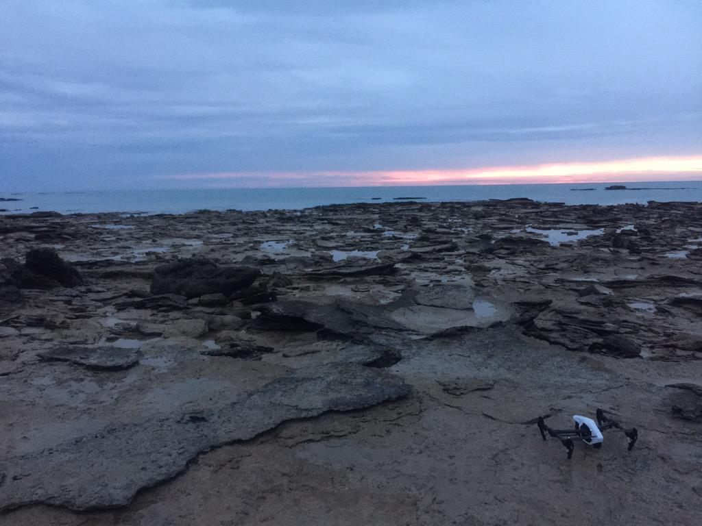 """""""I'll be back..."""" The sun sets on this month's tracking session for the #DinoDrone. #Skynet #DinosaurCoast #UAV #UQ http://t.co/8wJMsZtfgu"""