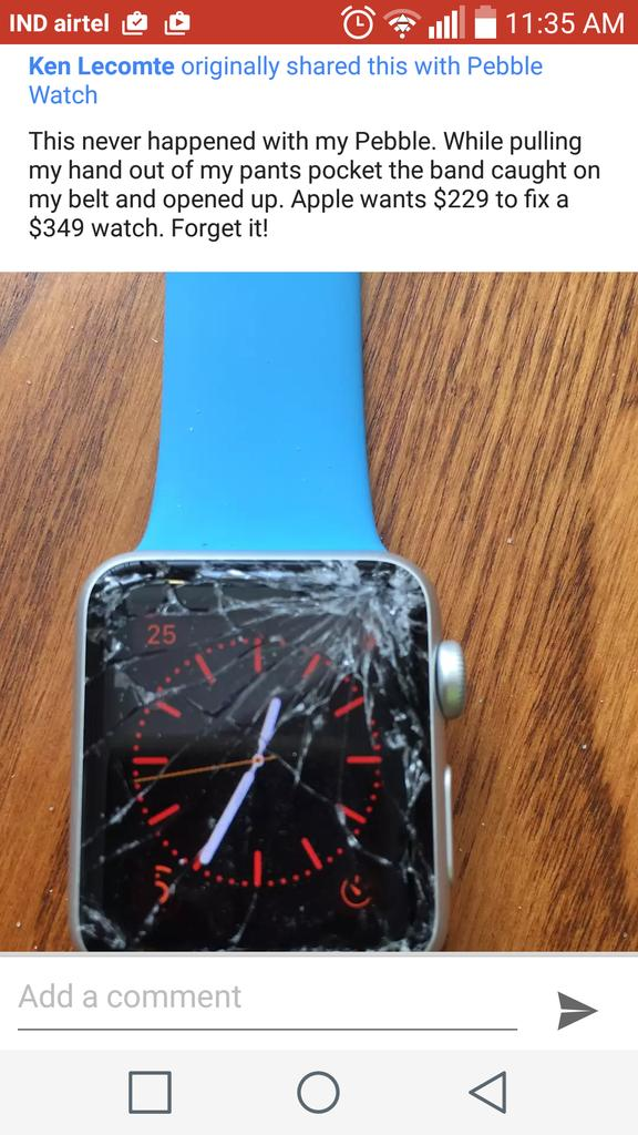 That's Apple Watch.. Premium product. :P http://t.co/f2Dr3PGb3f