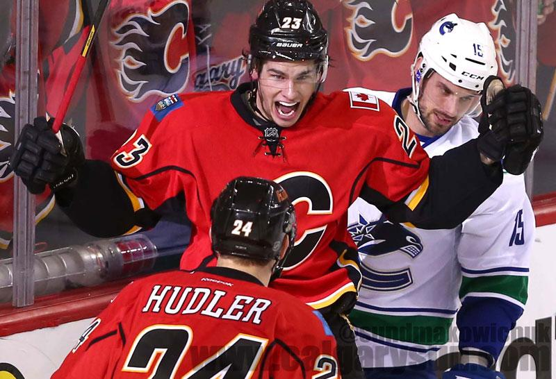 Flames headed to the next round #NHLPlayoffs. This pic says it all… #CofRed http://t.co/JA6zSTCs3F