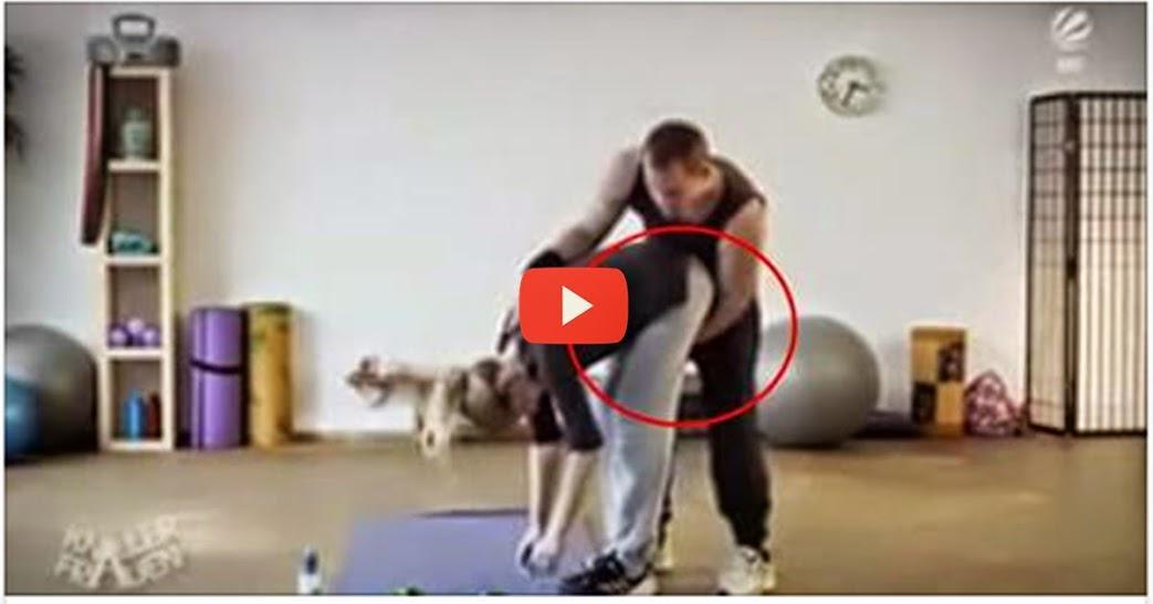 Mira como este instructor de gimnasio se aprovecha de las for Gimnasio 55 minutos