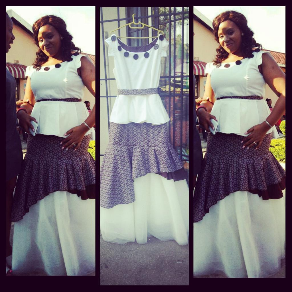 Roka Roko On Twitter Pinkie Brown Shweshwe Cream Top Tulle Traditional Rokaroko Thank You Mrs Fihlela Http T Co Fd09ui3xm1