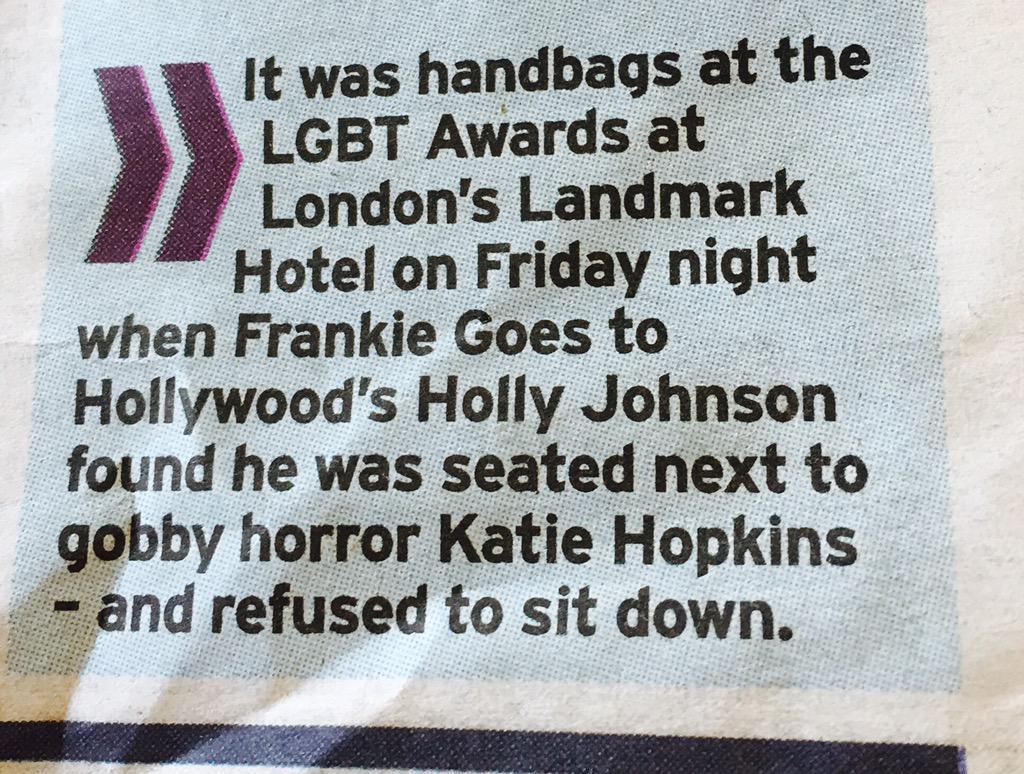 Yep! Seems the gay icon thing is going well @KTHopkins!! http://t.co/uQum68ybfu