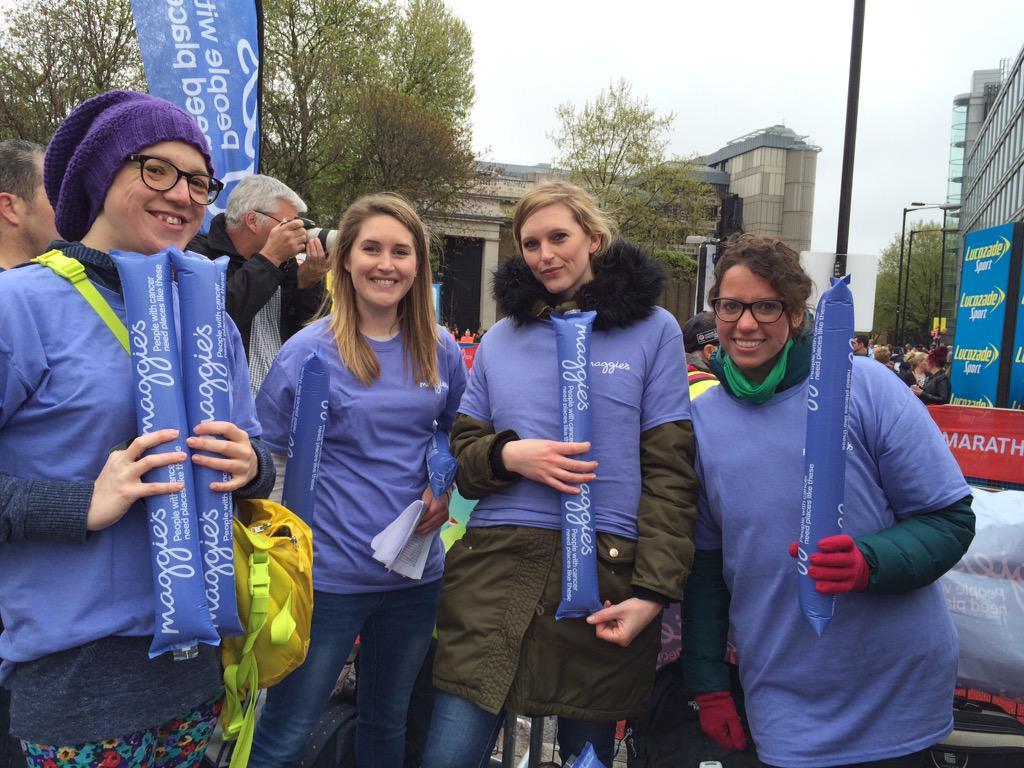 RT @MaggiesCentres: Ready to cheer! #LondonMarathon #vlm2015 #maggies http://t.co/MDOPek9jKB