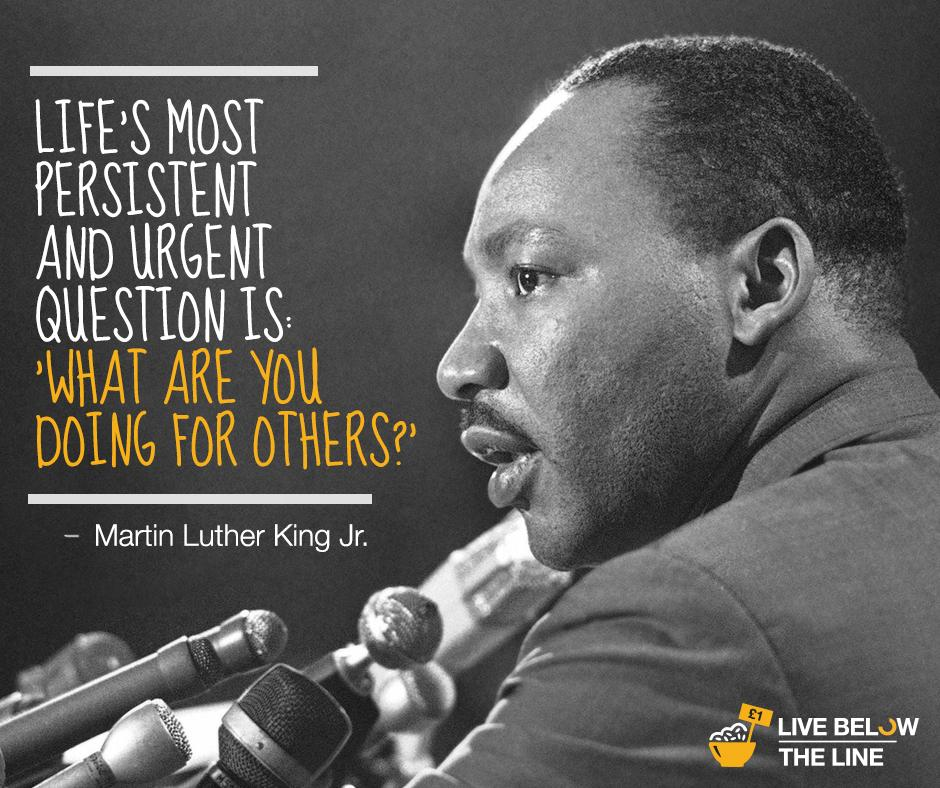 Wisdom from Dr. King. Agree? Sign up to live #belowtheline and help end extreme poverty: http://t.co/zOSRJZhoZr http://t.co/7sj9LSWEkN