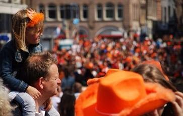 If u happen to be in NL tomorrow, don't be surprised at all the orange: it's King's Day,our national day #Koningsdag