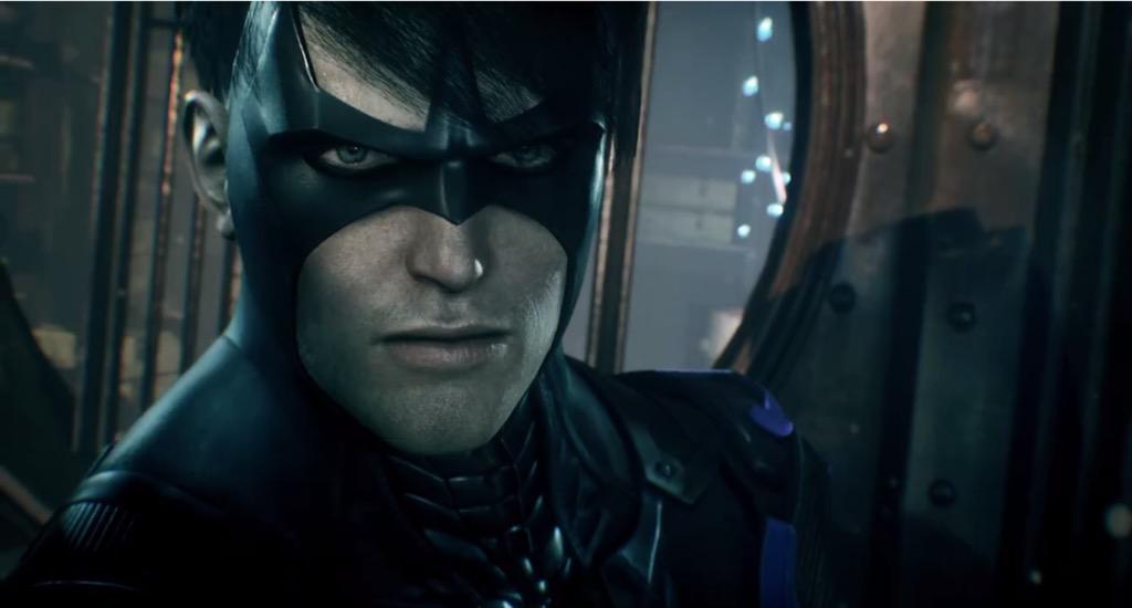 Nightwing in Batman: Arkham Knight. Full trailer Monday. Stay tuned to http://t.co/fyRMYTDsSU! http://t.co/7tMCWlx8y4 http://t.co/iAzrDWjamT