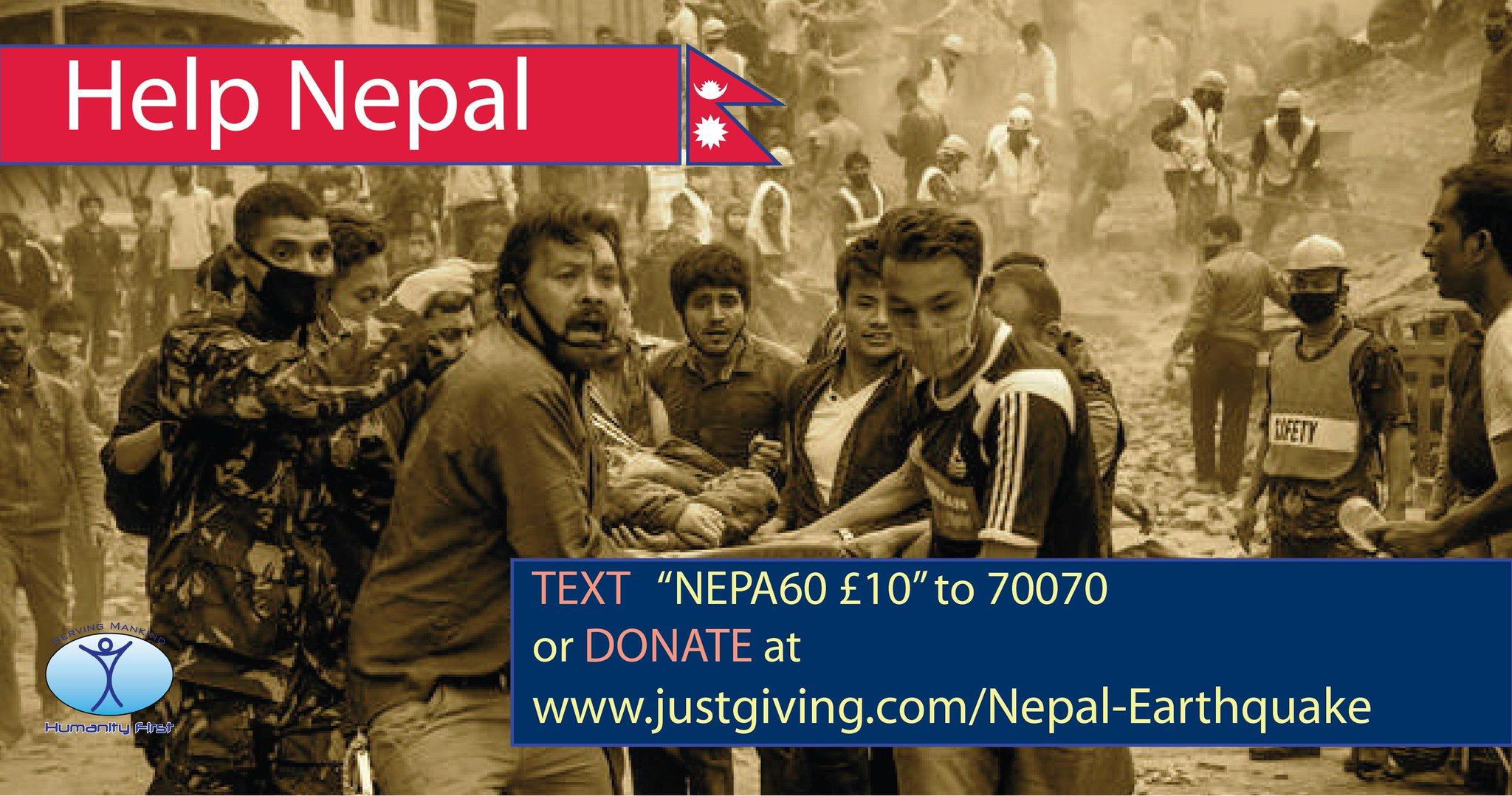 Humanity First Merespon Gempa Bumi Nepal