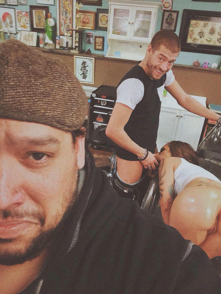 backroom casting threesome