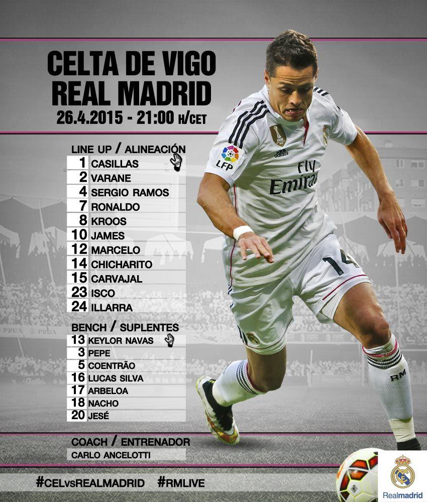 Alineación Titular Confirmada Del Real Madrid Vs Celta De
