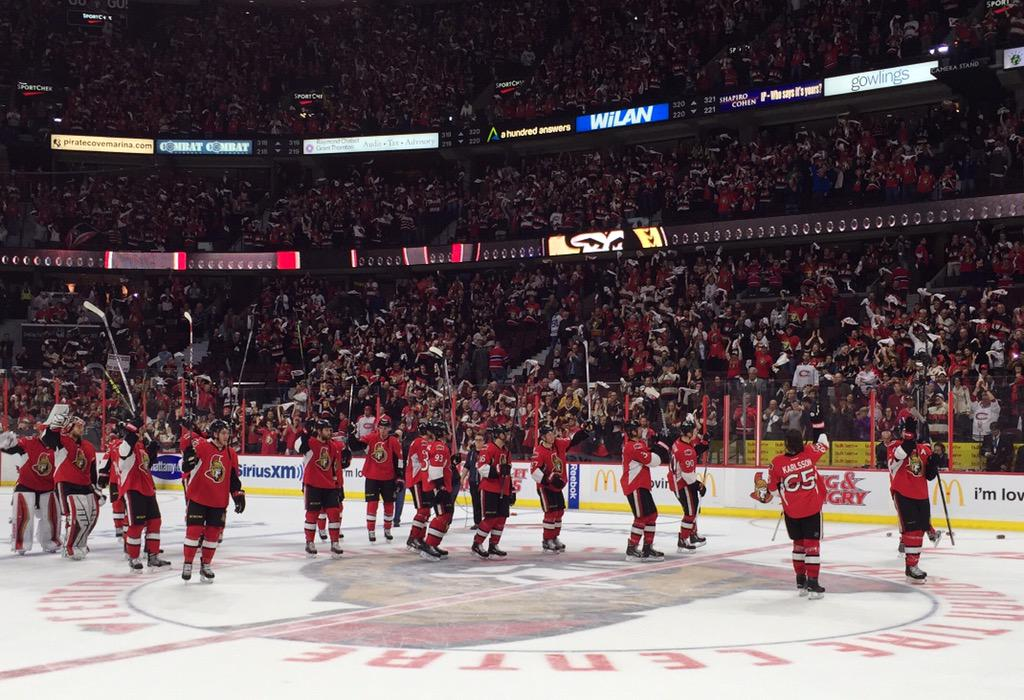 What a team... What a season. Until next year, #Sens Army! http://t.co/k4hsrVtMAK
