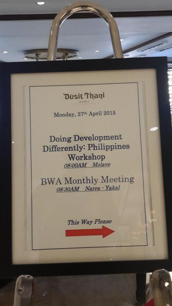 Here we go. Start of 2 days of discussion on #differentdev in Manila with Asia Foundation, @ODIdev Devex .... http://t.co/teOynzzMiH