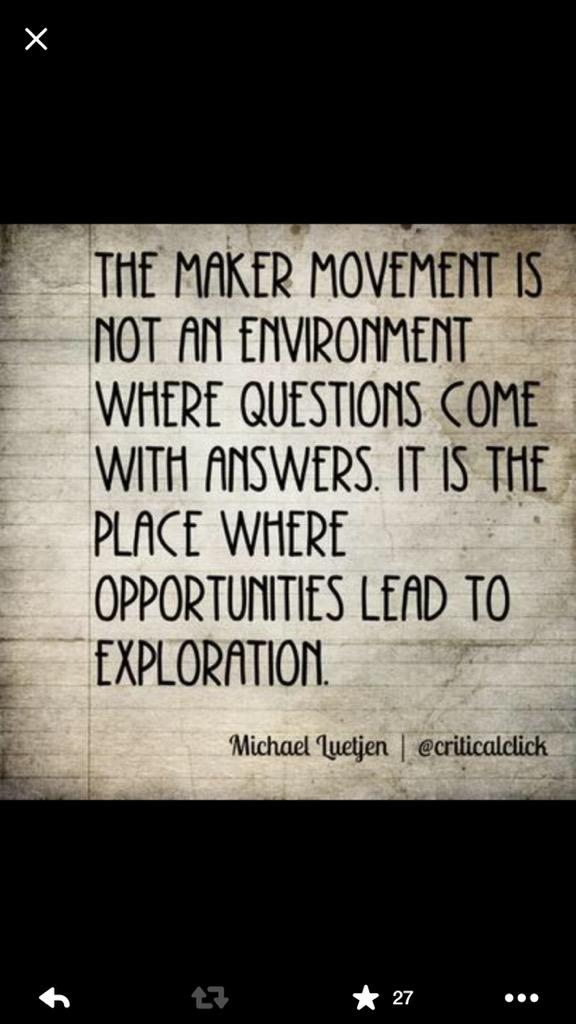 A2. The Maker Movement is not an environment where questions come with answers...  #21stedchat http://t.co/aqDxMJ41ae