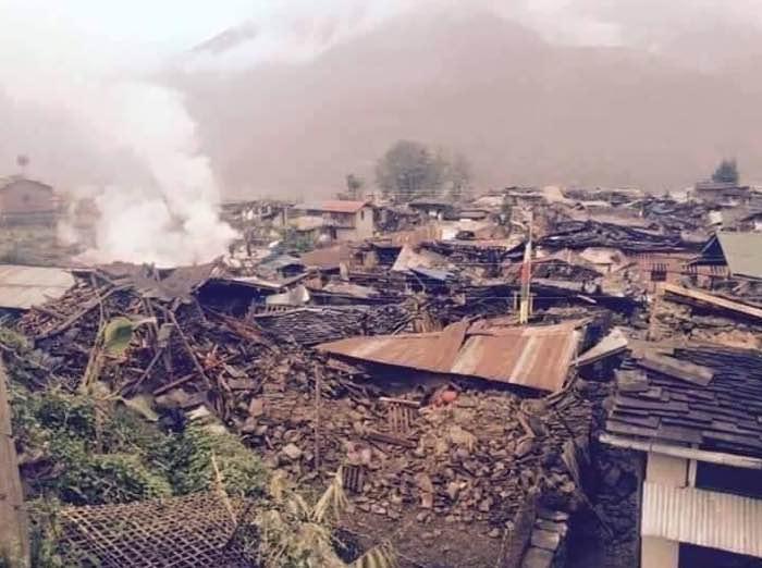 भूकम्पले यसरी सखाप भयो गोरखा बारपाकको सिंगो बस्ती